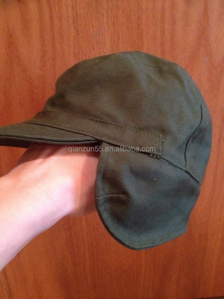 Military Ear-Flap Canvas Cap Men