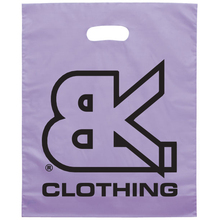 Fashion Own Graphic Logo Printed Die Cut Punch Hotel Plastic Laundry bag Plastic Bag
