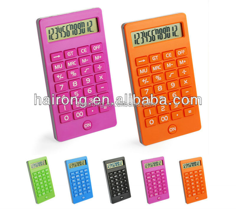 Hairong 12 digit electronic calculator download with rubber key
