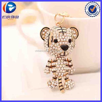 Rhinestone Animal Teddy Bear Metal Key Chain