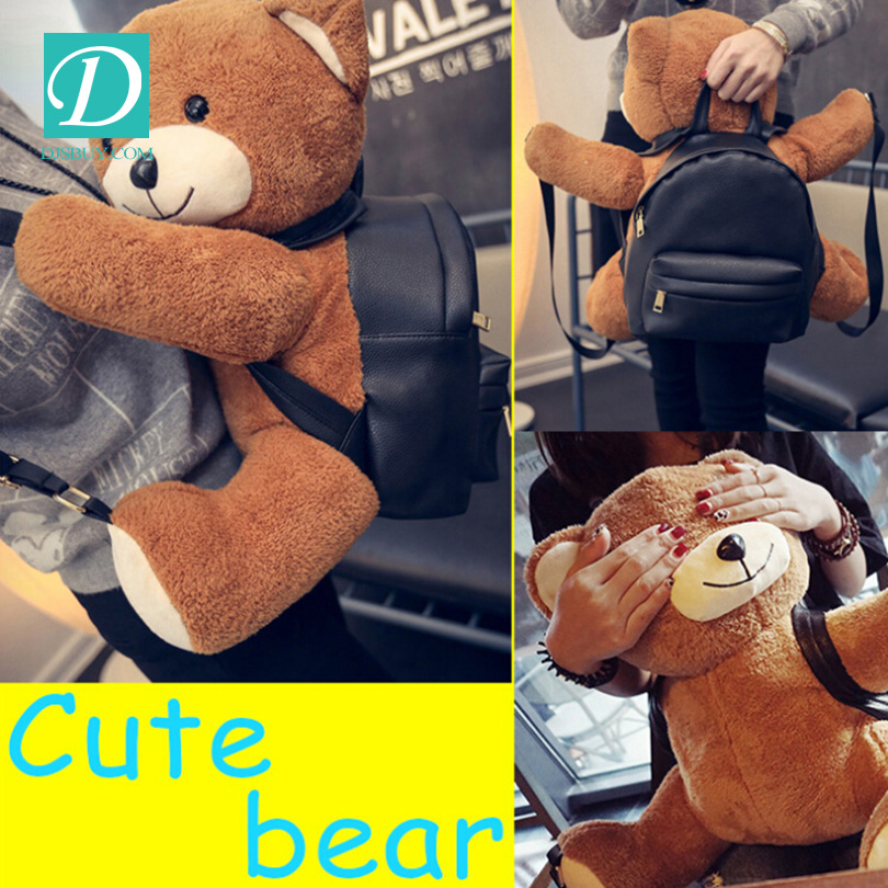 Wholesale Cure Teddy Bear Carry Backpack Stylish Handbags For Young Girls