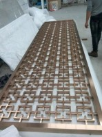 Hotel custom made Laser cut metal partition room divider screen