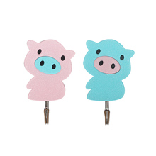 HY-0627 High quality <strong>Hooks</strong> Bath accessories the lovely cartoon clothes Adhesive <strong>Hook</strong> Strong Plastic Adhesive Wall <strong>Hook</strong>