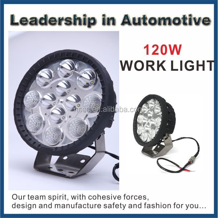 2015 new arrival 9-32v 9.7inch 120w led work light IP68 waterproof for offroad car auto part