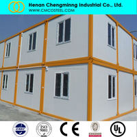 Mobile home chassis/ living 20ft container house/glass garden house