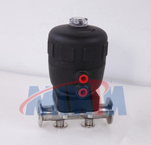Sanitary pneumatic diaphragm valve with Polyamide PA actuator PTFE/EPDM