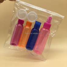skincare set girl 100ml and 60ml plastic bottle make up kit