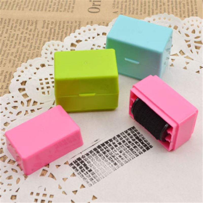 1PCS Security Hide ID Garbled Self-Inking Rubber Stamp Protect Identity Theft Sticks