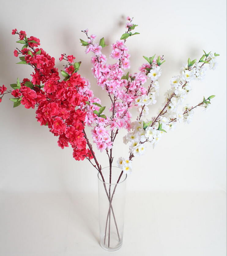Many Colors Cherry Blossom Wedding Decor Plastic Flower Cherry Blossom
