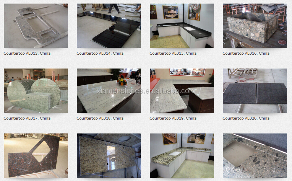 China Juparana Prefab Laminate Artificial Kitchen Quartz Granite Countertop