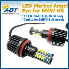 New Arrival! US CR LED Angel Eye For BMW Headlight, H8 E92 Canbus LED Angel Eyes 120W for BMW X3 X5 5/6/7 Car Accessories