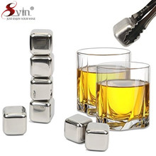 picnic essential stainless steel ice cube whisky rock bpa and lead free whiskey stones