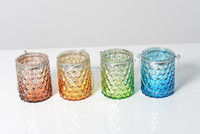 12A612 -- hanging merucry glass tealight/LED light table decoration