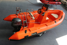Rigid Fiberglass hull RIB Boat used rigid PVC Hypalon inflatable boats rubber inflatable boat