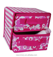 Good quality 2 drawers non woven fabric foldable storage box