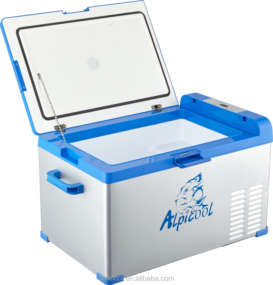 Portable fridge with cigarette plug and adaptor DC 12v AC 110-240v