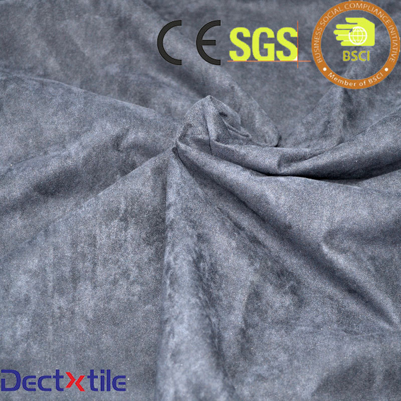 upholstery suede 100% polyester fabric for jacket sofa shoes