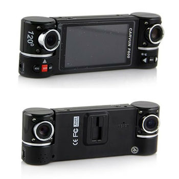 F600 dash cam 2.7 inch screen night vision 120 degree dual lens car dvr