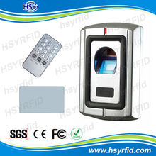 RFID waterproof outdoor biometric fingerprint reader and stand alone access control