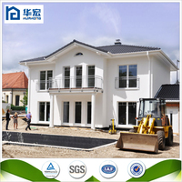 2016 hot sale good quality mdoern structural steel beams prefab houses two stroy villa beautiful house fast building villa hous