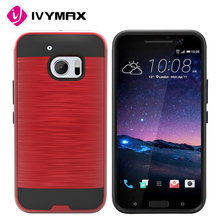 IVYMAX phone case for htc 2 in 1 PC TPU brush mars armor case brush hybrid hard case cover for HTC M10