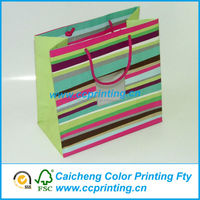 ordinary rainbow color fancy paper gift bags