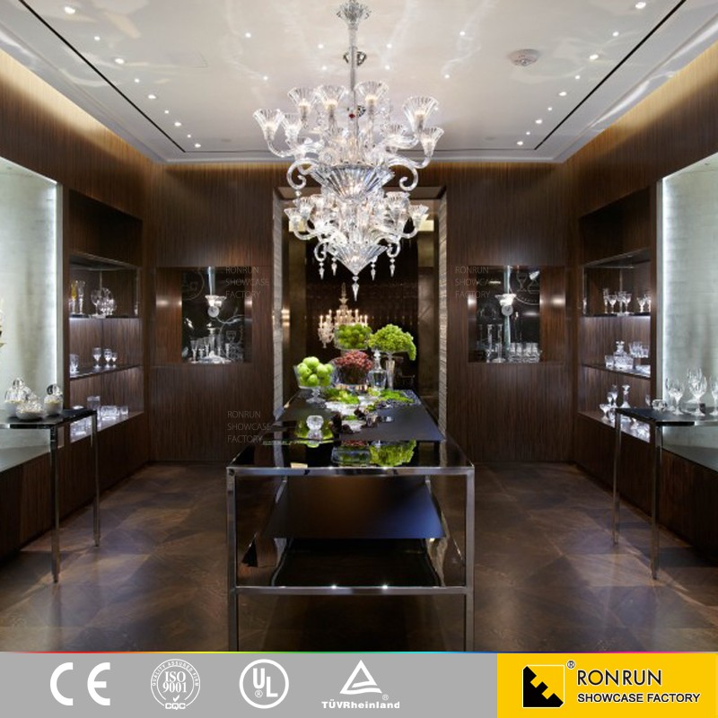 shop interior stainless steel jewelry display and retail display furniture and kiosk design for sale
