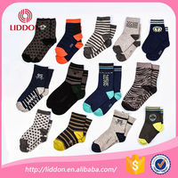 New organic custom design cotton baby kids young boy sock tube socks