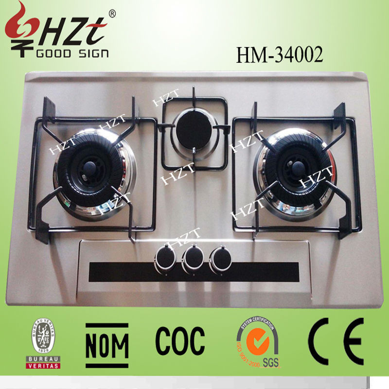 Good Quality Portable 3 burner commercial cooking range