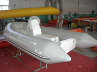 Hypalon or PVC inflatable RIB boats center small tender yacht with jockey console for sale!