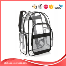 New products wholesale transparent pvc backpack