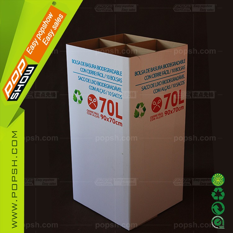 High Quality Fancy cardboard dump bin boxes for Golf club