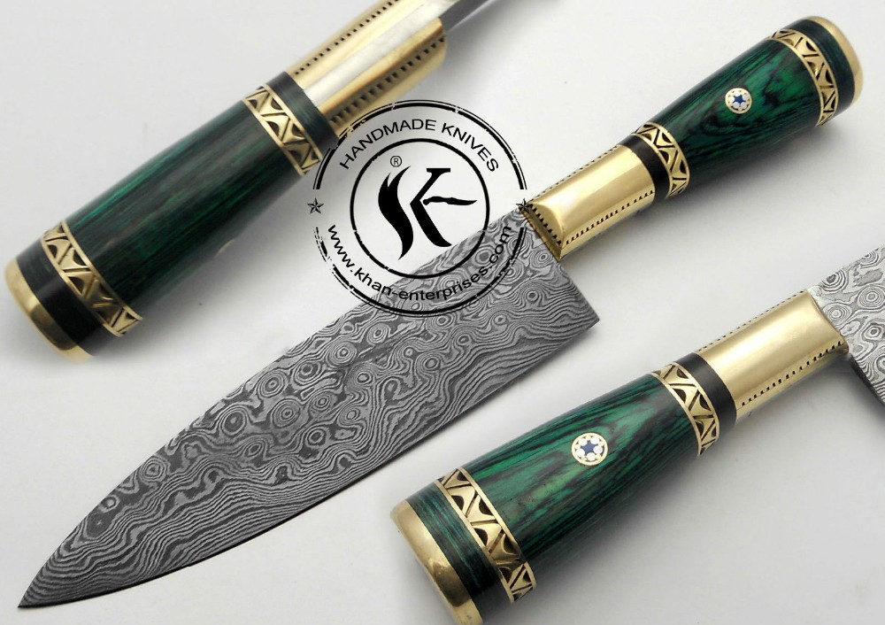 "11.00"" Custom Made Beautiful Damascus Steel chef kitchen Knife (A-0104-10)"