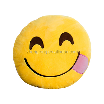 Hot Sale Soft custom whatsapp emoji pillow Wholesale