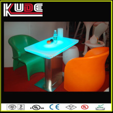 Wide and square led furniture led beer table/snack table/high bar led table for sale
