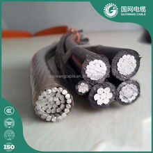 Al conductor pvc jacket 4 core 95mm2 XLPE Insulated Aerial Bundle Cable ABC Cable