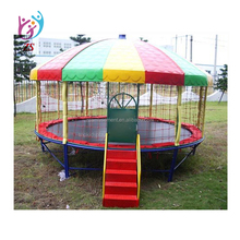 High quality 12ft round trampoline bed with safe Enclosure and four legs