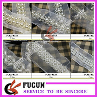 wholesale rhinestone lace and pearl applique