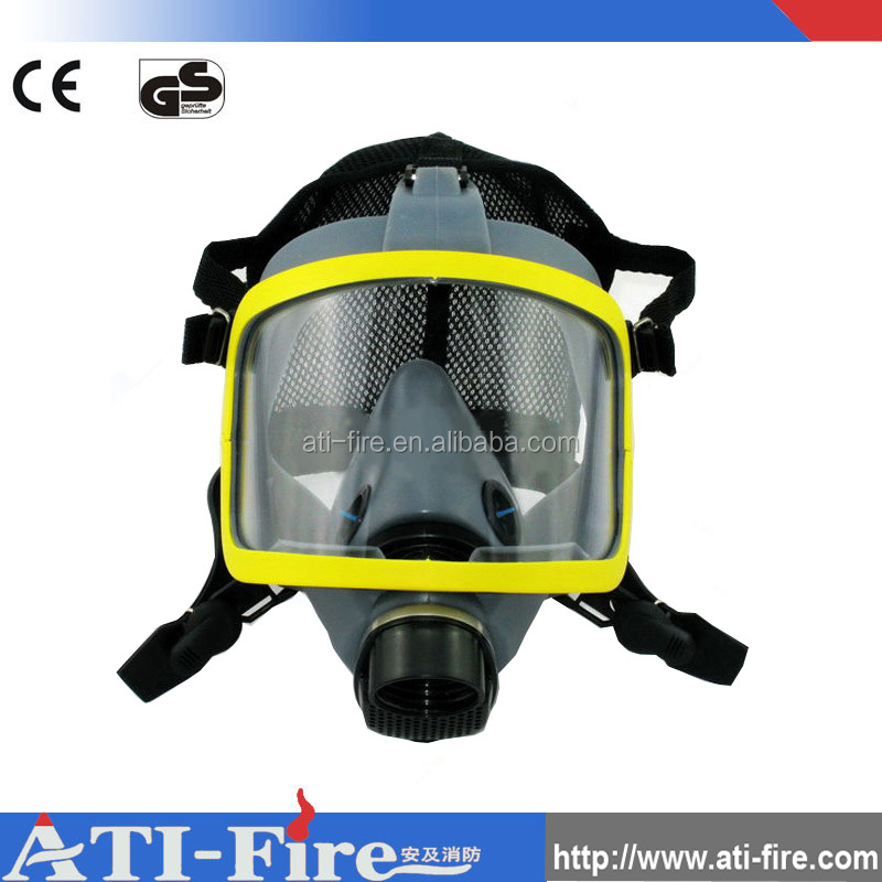 Fireman equipment rubber gas mask silicone fire face mask