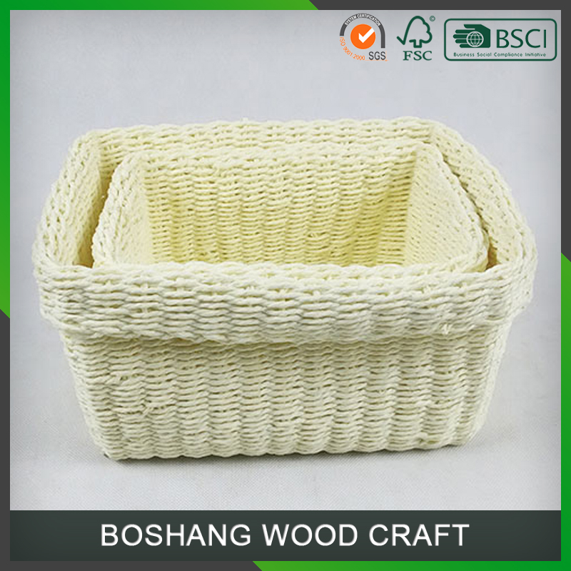 Wholesale handmade paper baskets small gift baskets for wedding