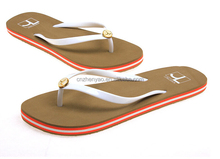 2016 women nude beach shoes custom logo flip flops