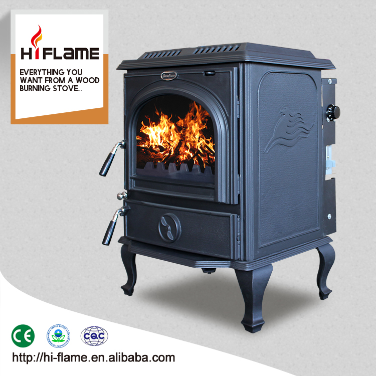HF717B Cast iron water jacket wood burning fireplace