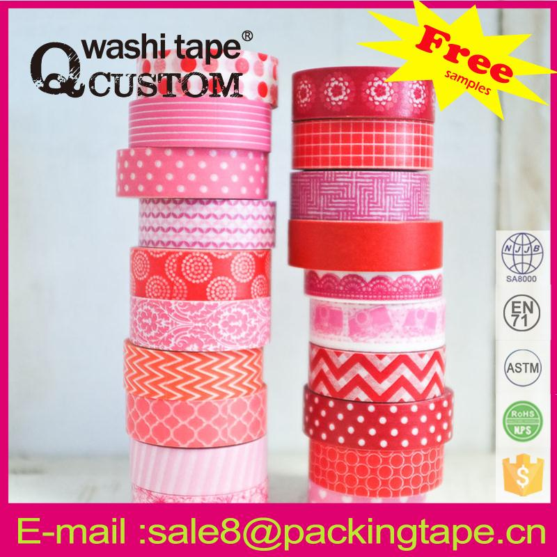 Hot sale CMYK washi tape for Birthday card mask <strong>adhesive</strong>
