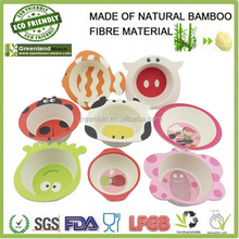 insect animal shaped bamboo fibre material children bowls, kids coup bowls