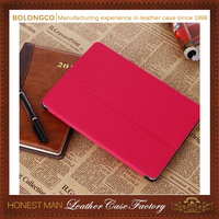 Multi colors PU skin tablet stand case for ipad mini with handle wholesale