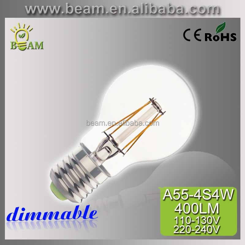 2016 Export America Italy led filamrnt bulb energy saving E27 4W ,high brightness cheap led lamp