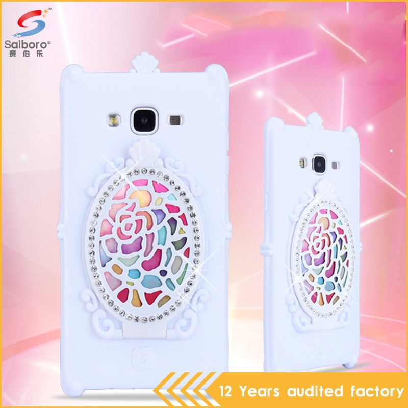Latest high quality low moq make silicone case for Samsung J7