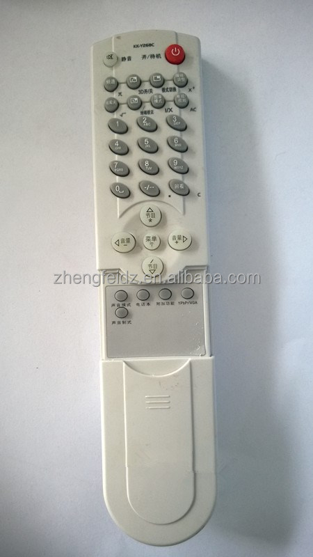 White New ABS 32 Keys big button remote control TV remote control with slide cover for Konka