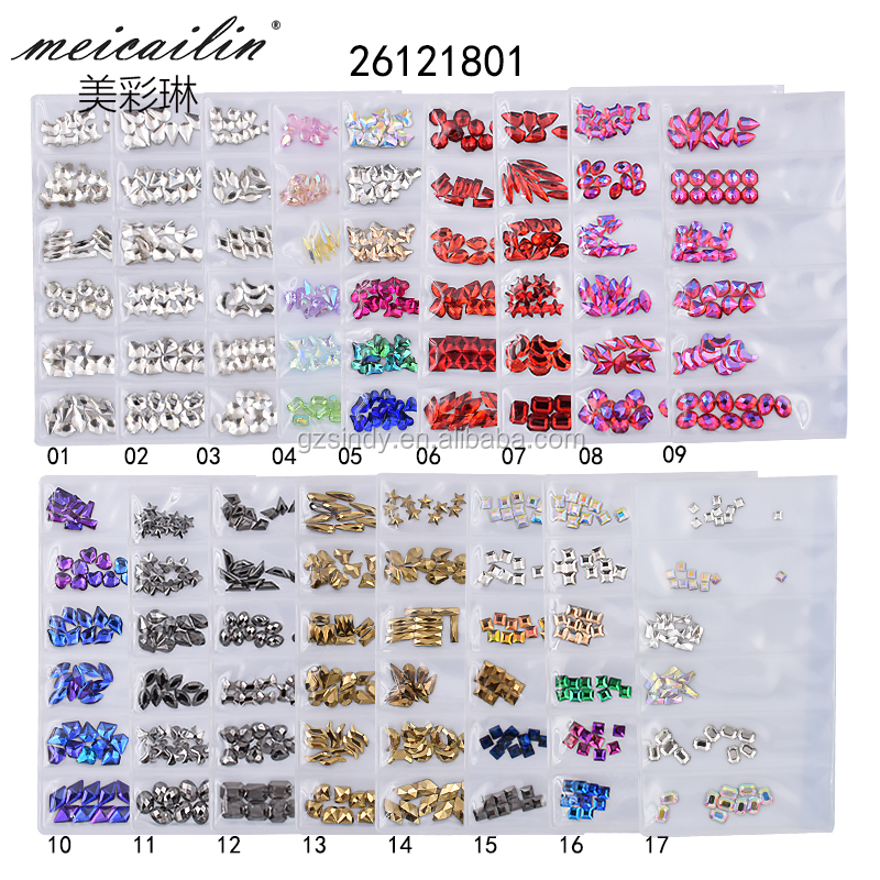 6 Grid/Pack K9 flatback crystal stone for nail art decoration
