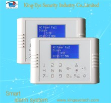 Android/iOS APP control touch keypad color menu quad-band GSM&PSTN contact ID home GSM fire&burglar alarm system
